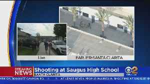 'I'm Pretty Shook Up': Parent Texting With Students Still On Lockdown At Saugus High School [Video]
