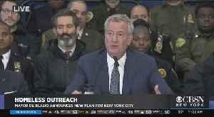 Mayor De Blasio Unveils 'Outreach NYC' Program To Address Homelessness [Video]