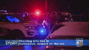 News video: Suspect On The Run Following Double Murder In Homewood