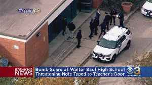 Bomb Scare At Walter B. Saul High School After Threatening Note Found Taped To Teacher's Door [Video]