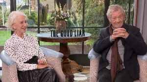 Helen Mirren, Ian McKellen Talk 'The Good Liar' [Video]