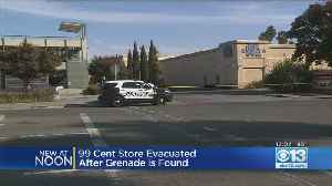 All-Clear Given After Grenade That Appeared To Be Live Removed From Behind Fairfield 99 Cent Only Store [Video]