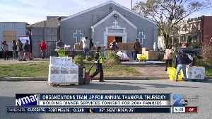 Organizations team up to provide Thanksgiving baskets for the community [Video]
