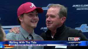 Logan Morris signs with Alabama [Video]