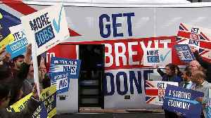 Boris Johnson unveils Tory's 'Get Brexit Done' election bus [Video]
