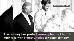 Prince Harry shares photo with three generations of royals [Video]