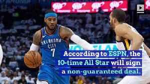NBA Veteran Carmelo Anthony Joins Portland Trail Blazers [Video]