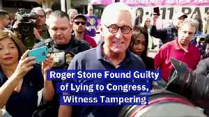 Roger Stone Found Guilty of Lying to Congress, Witness Tampering [Video]