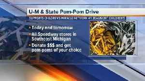 MSU/U-M Pom-Pom drive to support Beaumont Children's [Video]