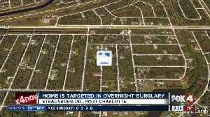 Port Charlotte home targeted in overnight burglary [Video]