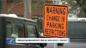 News video: Here's our list of winter parking restrictions starting November 15th in Western New York