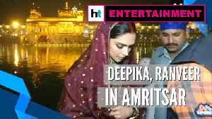 Deepika, Ranveer offer prayers at Golden Temple day after wedding anniversary [Video]