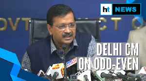 'Decision to extend odd-even scheme in Delhi to be taken on Nov 18': Kejriwal [Video]