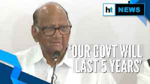 News video: 'Government formation process underway, will last 5 years': Sharad Pawar
