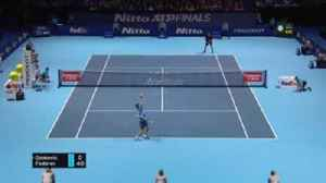 News video: Federer v Djokovic: Highlights