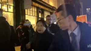 Hong Kong Justice Secretary heckled in London