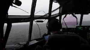 US Air Force planes fly low over the North Sea