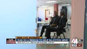 Man on a mission to help Salvation Army [Video]