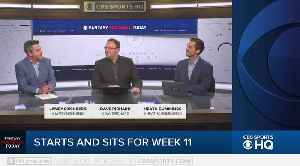 Fantasy Football Today Start & Sit Week 11 [Video]