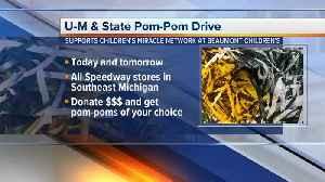 MSU/U-M Pom-Pom drive to support Beaumont Children's [Video]