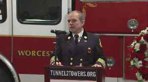 Worcester Fire Chief Thanks Tunnel To Tower Foundation [Video]