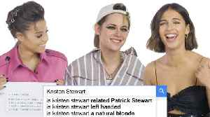 News video: Kristen Stewart, Naomi Scott, and Ella Balinska Answer the Web's Most Searched Questions