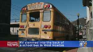 RV Loses Brakes, Smashes Into School Bus As Little Girl Is Boarding [Video]