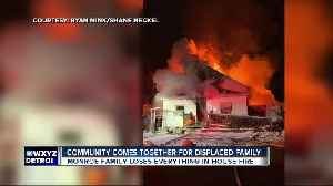 Community comes together for family displaced by Monroe house fire [Video]