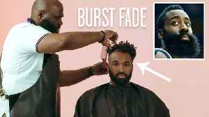 News video: James Harden's Burst Fade Haircut Recreated by a Master Barber