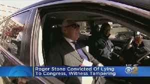 Roger Stone Convicted Of Lying To Congress, Witness Tampering [Video]