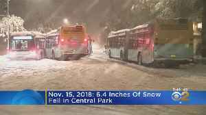 Nov. 15 Marks One Year Since 6.4 Inches Of Snow Fell In Central Park [Video]