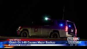 Crash on I-65 by Priceville [Video]