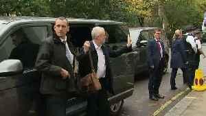 Jeremy Corbyn arrives to approve Labour manifesto [Video]