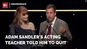 Adam Sandler Didn't Listen To His Acting Teacher [Video]