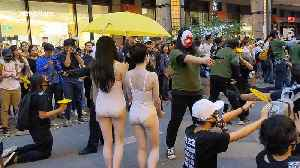 News video: Street performance in Taipei in support of Hong Kong protest movement