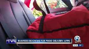 Food delivery apps growing in popularity, including Delivery Dudes of Delray Beach [Video]