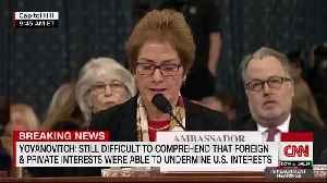 Marie Yovanovitch testifies, touts diplomats [Video]