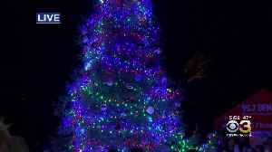 Santa Claus Helps Light Christmas Tree At Peddler's Village [Video]