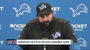 Stafford to miss second straight week [Video]