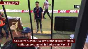 News video: Mayank Agarwal meets specially-abled children post Ind vs Ban match