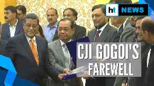 News video: CJI Ranjan Gogoi given farewell at SC premise, to retire on Nov 17