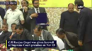 Ranjan Gogoi gets farewell at SC premises [Video]