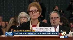 Impeachment witness makes intimidation claim [Video]