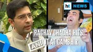 Gambhir eating 'poha', 'jalebis', not bothered about pollution: Raghav Chadha [Video]