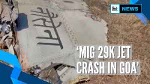 MiG 29K fighter jet crashes in Goa, pilots eject safely [Video]