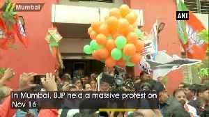 News video: BJP protests in Mumbai demanding Rahul Gandhi apology after SC dismissed Rafale petition