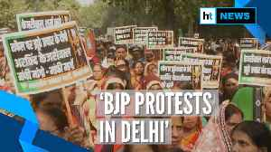 News video: BJP protests in Delhi, demands Kejriwal's apology over Rafale allegations