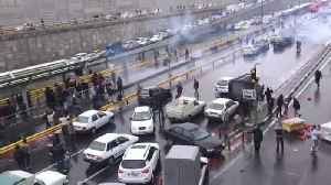 News video: Protests erupt in Iran's major cities after petrol price rise