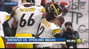 Browns vs Steelers brawl [Video]