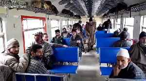 Kashmir's Srinagar Budgam train service reopens after months of closure [Video]